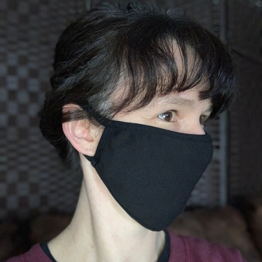 Black Cotton Cloth Ear Loop Face Masks - Set Of 2 Masks