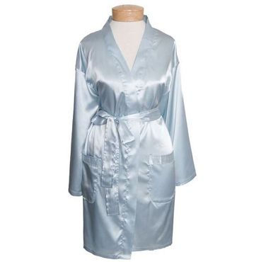 Satin Robe - Powder Blue